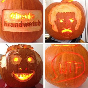 Brandwatch - Pros at pumpkin carving.