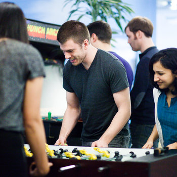 eBay, Inc - A few games of foosball or turns at the Hunch arcade are how we take a break