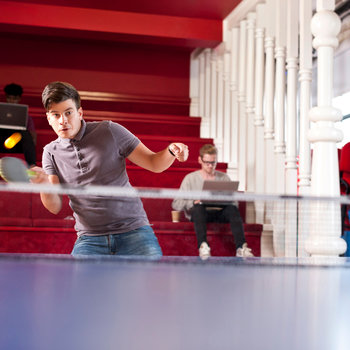 Forward3d - Table tennis is a popular way to relax at the office.
