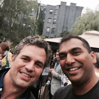 MyDomino - Our Head of Product with Mark Ruffalo at our NY launch!