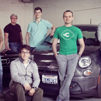 Carlypso - Our team in our original vehicle warehouse