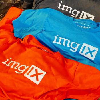 imgix - Showing off a new shipment of T-shirts.