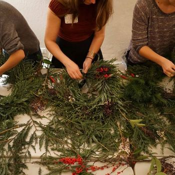 Good Eggs - We hold workshops at our hub, including this wreath-making workshop!