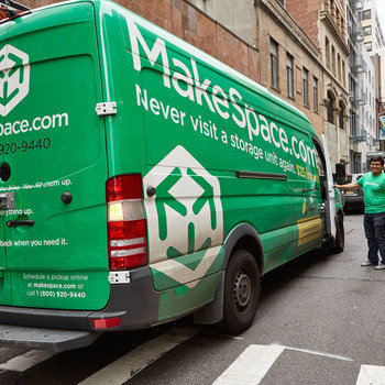 MakeSpace - Our friendly field staff and awesome Mercedes Benz Sprinter Vans help transport clutter out of peoples homes and into the storage cloud