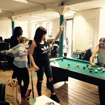 FLUBIT LIMITED - Girls playing pool after work