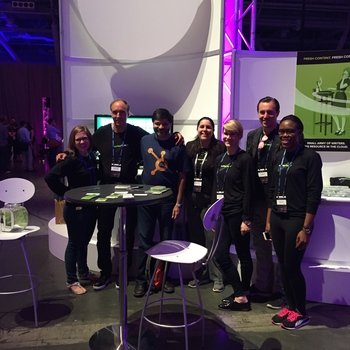 WriterAccess - Just a few of our WriterAccess tribe members at Inbound 2015 conference in Boston with Dharmesh Shah from Hubspot in the middle of our pack.