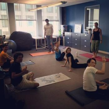 AirPR - Getting our team zen on with our corporate yoga teacher, Ashley