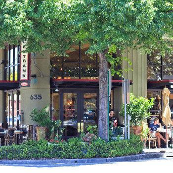Junyo - We're in beautiful downtown Menlo Park.  Just 1 block from Caltrain