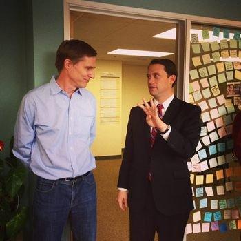 Junyo - Georgia Governor candidate Jason Carter visits Junyo