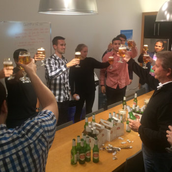 BioConnect - We celebrate the end of every week with Stella (yeah, we have a keg)