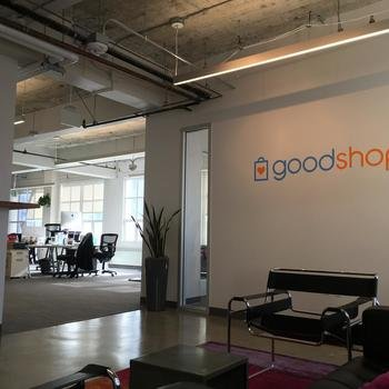 Goodshop - Our entry way with plants. Located on a sunny floor right next to the Transamerica Building.