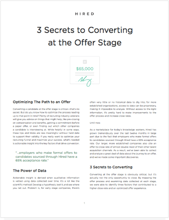 3 Secrets to Converting At the Offer Stage Thumbnail